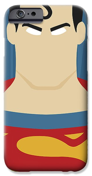 Justice League iPhone Cases - Minimal Superman 2 iPhone Case by Manny Jasus