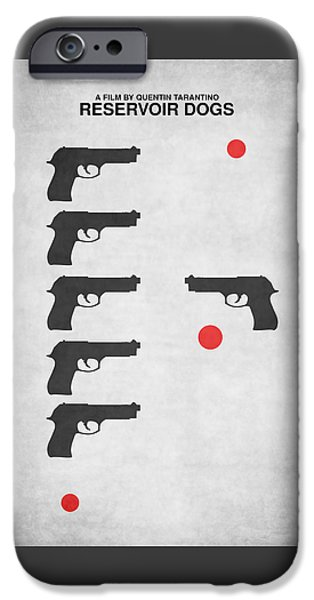 Reservoir Dogs iPhone Cases - Minimalist Reservoir Dogs Poster iPhone Case by PA Melvin