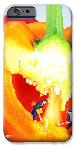 Mining in colorful peppers iPhone Case by Paul Ge