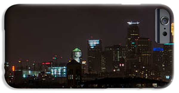 Zeus iPhone Cases - Minneapolis Lightning Skyline iPhone Case by Christopher Broste
