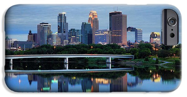 Mississippi iPhone Cases - Minneapolis Reflections iPhone Case by Rick Berk