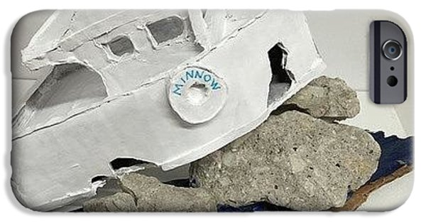 Boat Sculptures iPhone Cases - Minnow iPhone Case by William Douglas