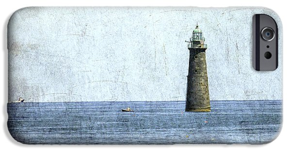 New England Lighthouse iPhone Cases - Minot Ledge Light iPhone Case by Brian MacLean
