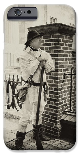 Tea Party iPhone Cases - Minuteman at the Gate iPhone Case by Hugh Smith