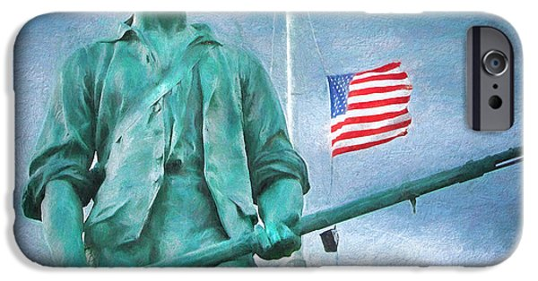 Constitution iPhone Cases - Minutemen iPhone Case by Dale Jackson
