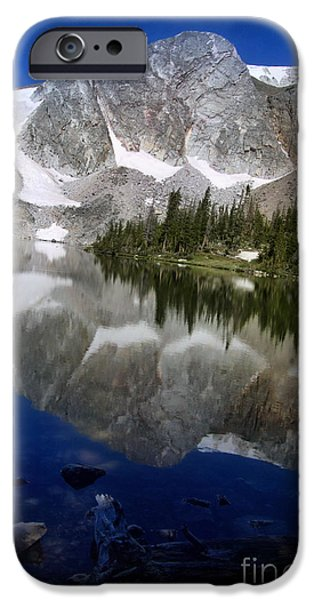 Snow Tapestries - Textiles iPhone Cases - Mirror Lake iPhone Case by Nena Trapp