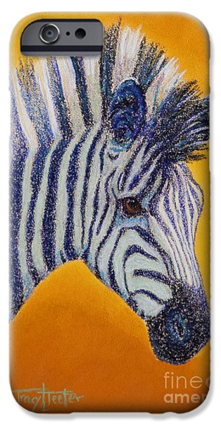 Gold Pastels iPhone Cases - Miss D iPhone Case by Tracy L Teeter