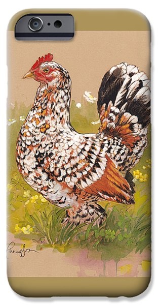 Farm Mixed Media iPhone Cases - Miss Millie Fleur iPhone Case by Tracie Thompson