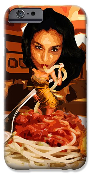 Design iPhone Cases - Missghetti iPhone Case by Moxxy Simmons
