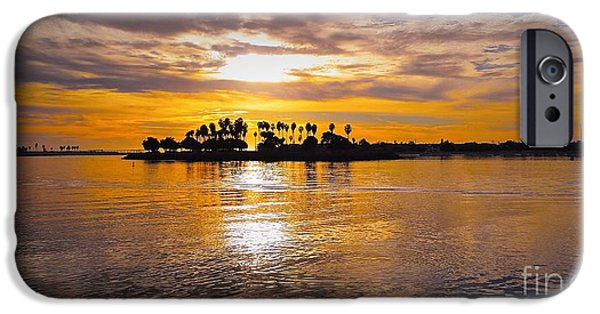Fabulous Gifts iPhone Cases - Mission Bay Purple Sunset by Jasna Gopic iPhone Case by Jasna Gopic