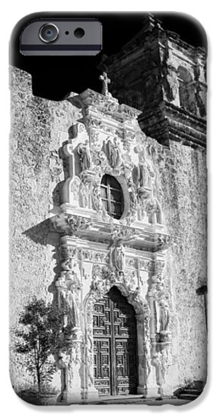 Stone Carving iPhone Cases - Mission San Jose - Infrared iPhone Case by Stephen Stookey