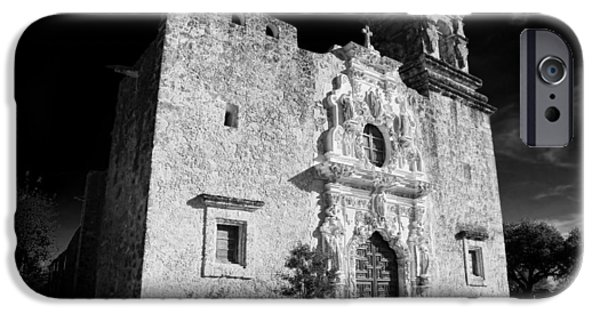Religious iPhone Cases - Mission San Jose - Infrared iPhone Case by Stephen Stookey