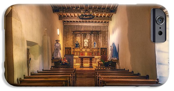 Religious iPhone Cases - Mission San Juan Capistrano Texas iPhone Case by Joan Carroll