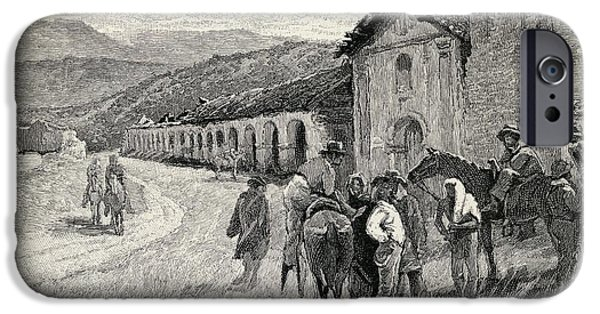 Religious Drawings iPhone Cases - Mission Santa Ynez Or Ines Solvang iPhone Case by Ken Welsh