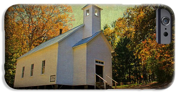 Buildings iPhone Cases - Missionary Baptist Church - Cades Cove TN iPhone Case by HH Photography of Florida