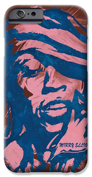 American ist Mixed Media iPhone Cases - Missy Elliott Pop Stylised Art Sketch Poster iPhone Case by Kim Wang