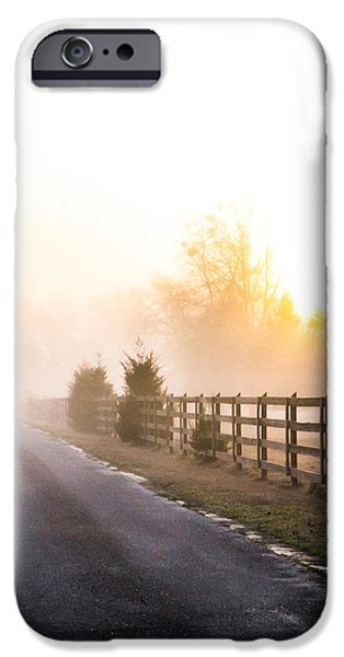 Pathway iPhone Cases - Mist in the Morning iPhone Case by Shelby  Young
