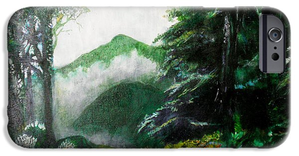 Fog Mist iPhone Cases - Mist on the Mountain iPhone Case by Seth Weaver