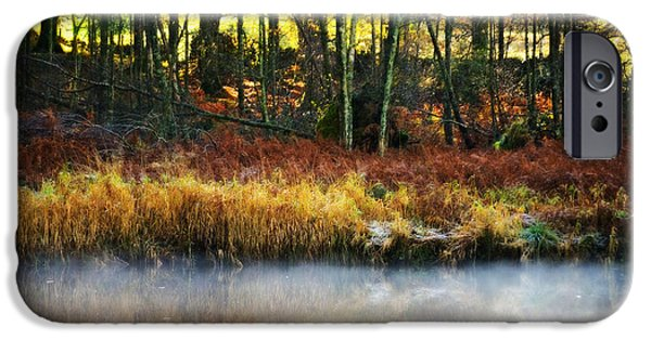 Mist iPhone Cases - Mist On The Water iPhone Case by Meirion Matthias