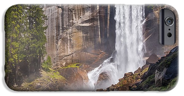 Mist iPhone Cases - MIst Trail and Vernal Falls iPhone Case by Anthony Bonafede