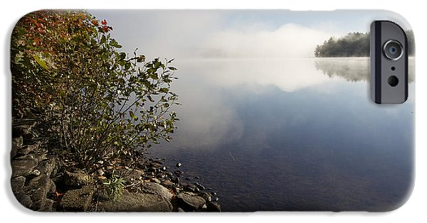 Mist iPhone Cases - Misting Lake 1 iPhone Case by Aquadro Photography