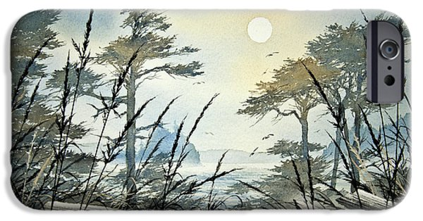 Misty Prints iPhone Cases - Misty Island Dawn iPhone Case by James Williamson