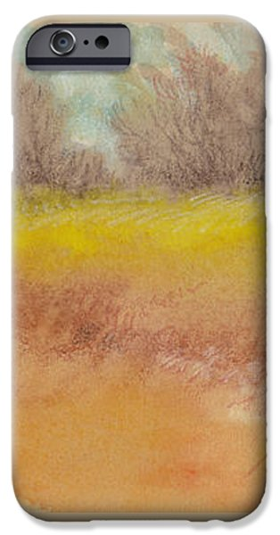 Autumn Landscape Mixed Media iPhone Cases - Misty Landscape I iPhone Case by Tracie Thompson