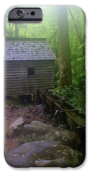 Smokey Mountains iPhone Cases - Misty Mill iPhone Case by Marty Koch