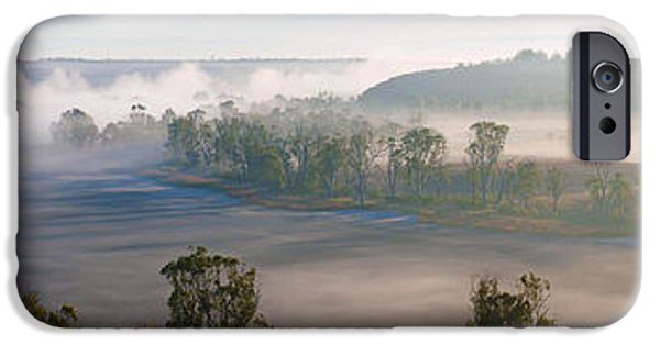 Mist iPhone Cases - Misty Morning on the Murray iPhone Case by Bill  Robinson