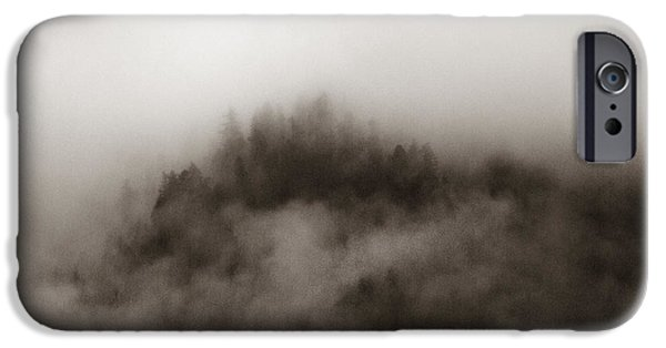 Mist iPhone Cases - Misty Mountain iPhone Case by Terry Hankins