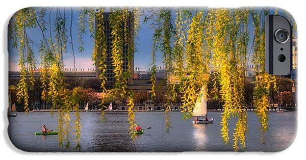 City. Boston iPhone Cases - MIT Sailing Pavilion - Boston iPhone Case by Joann Vitali