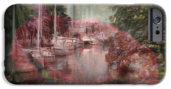 River iPhone Cases - Mix 2 iPhone Case by Leif Sohlman