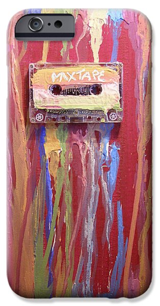 Shape iPhone Cases - Mix Tape II iPhone Case by Michelle Foster