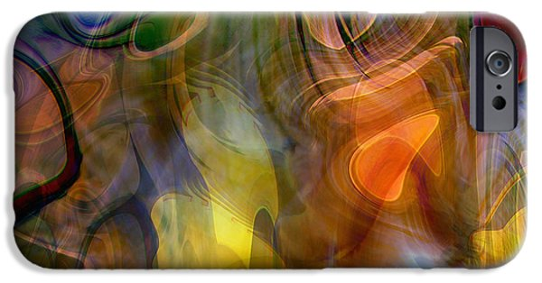 Energy Art Movement iPhone Cases - Mixed emotions iPhone Case by Linda Sannuti