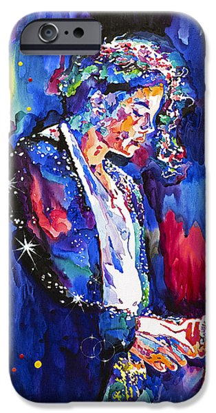 King Of Pop iPhone Cases - MJ Final Performance II iPhone Case by David Lloyd Glover