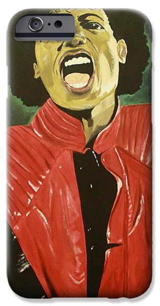 Mj Paintings iPhone Cases - Mj iPhone Case by Lakeisha Phillips