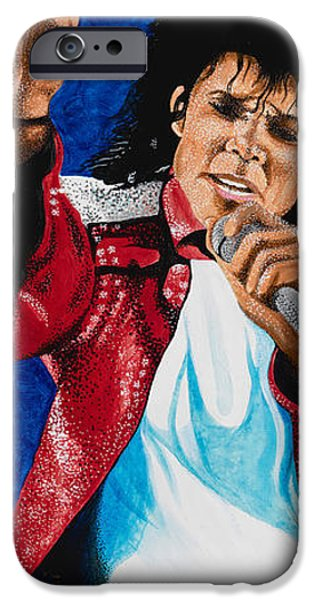Mj Paintings iPhone Cases - MJ Live iPhone Case by Dino Murphy