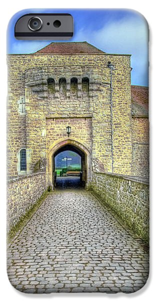 Moat House Leeds Castle iPhone Case by Chris Thaxter