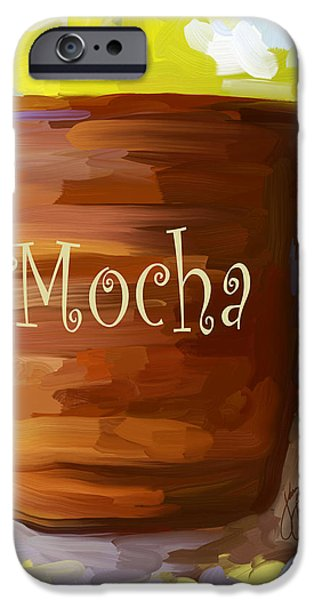 Mocha Coffee Cup iPhone Case by Jai Johnson