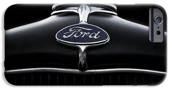 Badge iPhone Cases - Model A Ford iPhone Case by Douglas Pittman