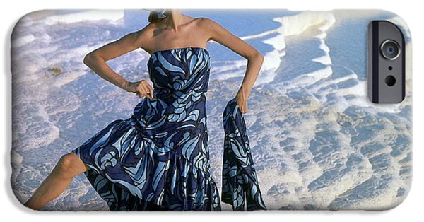 Ball Gown Photographs iPhone Cases - Model, Near The Chalk-water Basins iPhone Case by Conde Nast