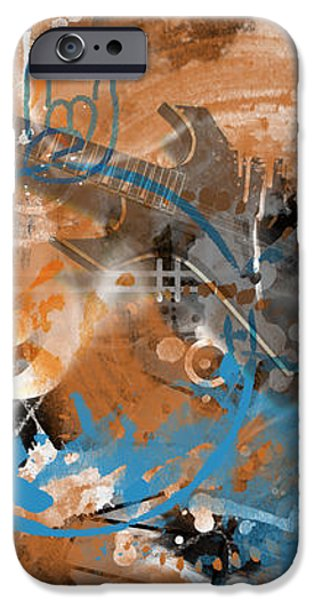 Abstract Movement Mixed Media iPhone Cases - Modern-Art Beyond Control II iPhone Case by Melanie Viola