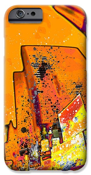 Distortion iPhone Cases - Modern Art NYC Times Square II iPhone Case by Melanie Viola