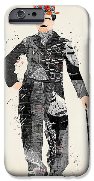 The Tramp iPhone Cases - Modern Chaplin iPhone Case by Bri Buckley