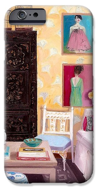 Dressing Room Paintings iPhone Cases - Modern Vibe iPhone Case by Cara alex White