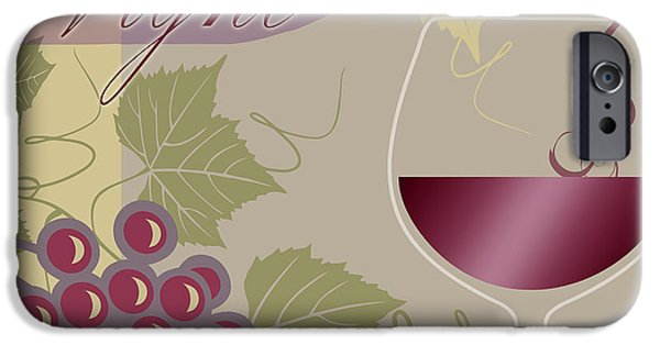 Wine Pour iPhone Cases - Modern Wine II iPhone Case by Mindy Sommers