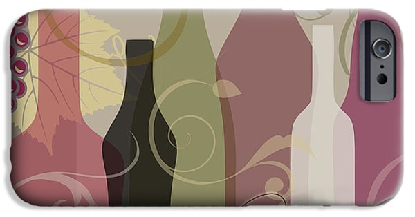 Wine Pour iPhone Cases - Modern Wine III iPhone Case by Mindy Sommers