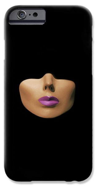 Modern Abstract Pyrography iPhone Cases - Modern Woman iPhone Case by Shawn Powers