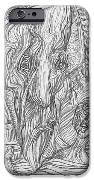 Abstract Expressionist iPhone Cases - Moine iPhone Case by Orhan Ilyas