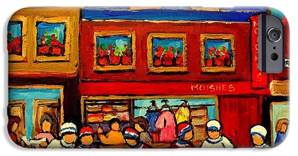Lubavitcher iPhone Cases - Moishes Steakhouse Hockey Practice iPhone Case by Carole Spandau
